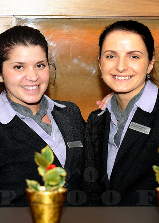 Tibisay & Dovile Front Desk Associates Apex City of London Hotel. Friendly, warm and great representatives for the hotel.